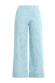 TEXTURED COTTON CROP TROUSERS