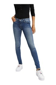 TOMMY JEANS DW0DW03977 NORA MID RISE JEANS Women DENIM MEDIUM BLUE