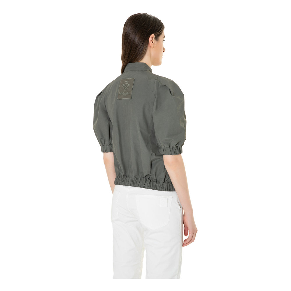 DARK GREEN POPELINE SHORT JACKET  Mr&Mrs Italy  Damejakker
