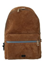 Suede School Travel Backpack Borse Leather Bag