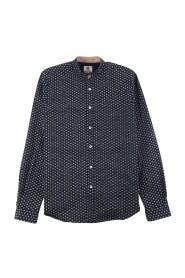 Męska koszula z dopasowanym krojem i przerywanym wzorem