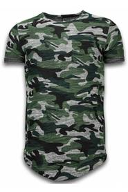 T-shirt Long Fit Camo Chest Pocket