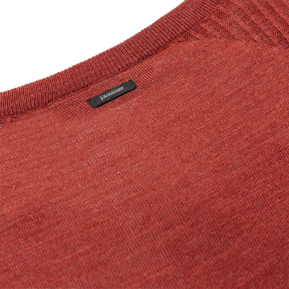 Red R-neck Sweater | Vanguard | Truien | Heren winter kleren