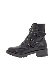 biker boots Double-strap studded