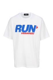 Run-print short-sleeve T-shirt