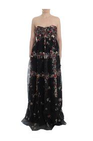 Masterpiece floral print silk runway dress