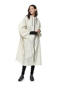 dotted rain cape