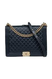 Pre-owned Quilted Glazed Leather Large Boy Flap Bag