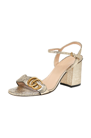 pre-owned Leather GG Logo Marmont Sandals