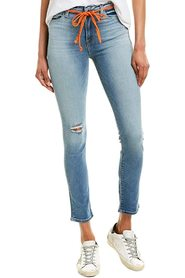 Jeans  Denim Barbara Belted Cropped Ripped