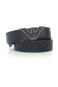 Thin belt in leather