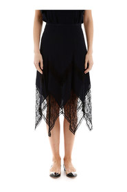 Midi skirt with lace