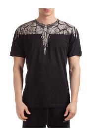 short sleeve t-shirt earth wings