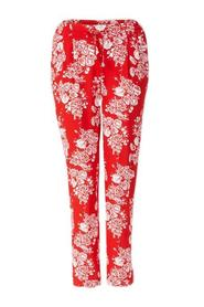 Mønster Rich & Royal Pant Printed Flame Red Bukse