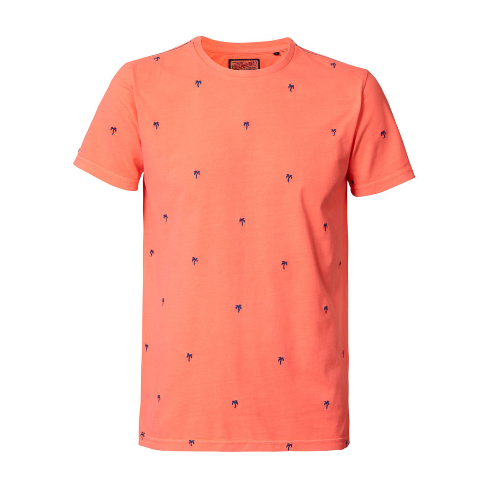 T-Shirt SS R-Neck Fiery Coral