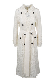 CORD LACE TRENCH COAT
