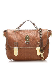 Tillie Embossed Leather Satchel Leather Calf China