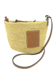 Bucket Bag Natural Material Raffia