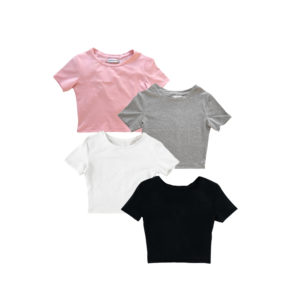 4-Pack Crop T-shirts