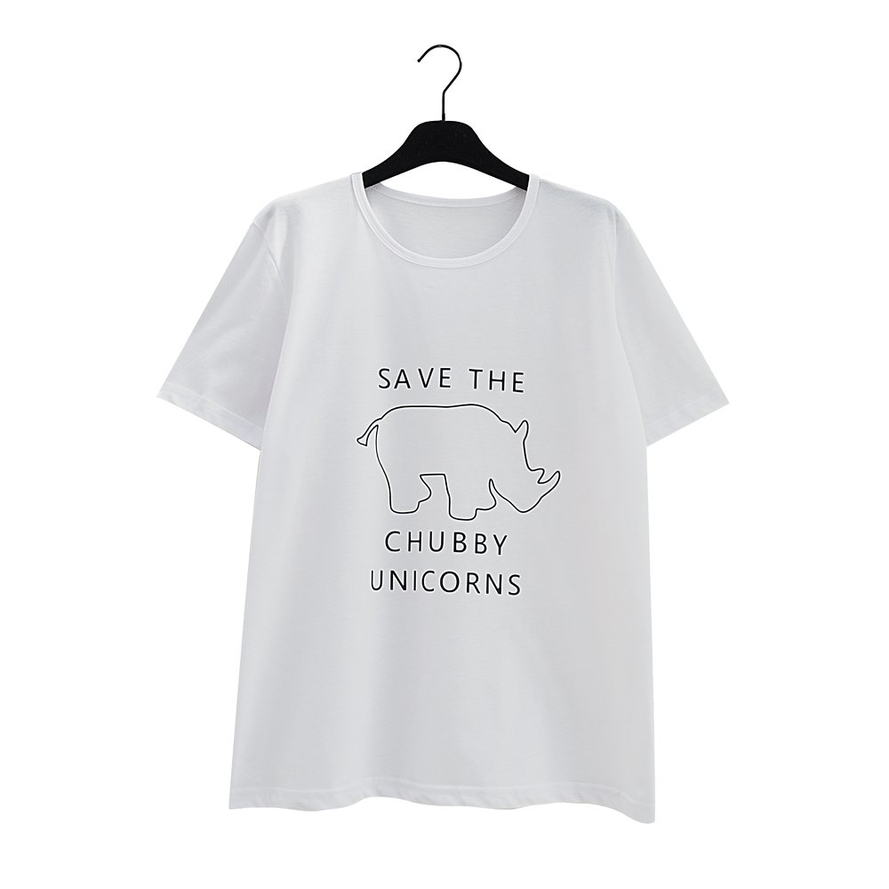MAY White Save The Rhino T-Shirt