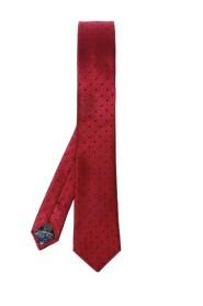 Jedwabny krawat z wyszytym wzorem