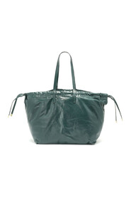 HAGAAR SOFT LEATHER PUFFY TOTE BAG