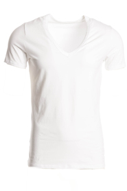 Hom T-Shirt V-Neck Stretch Wit