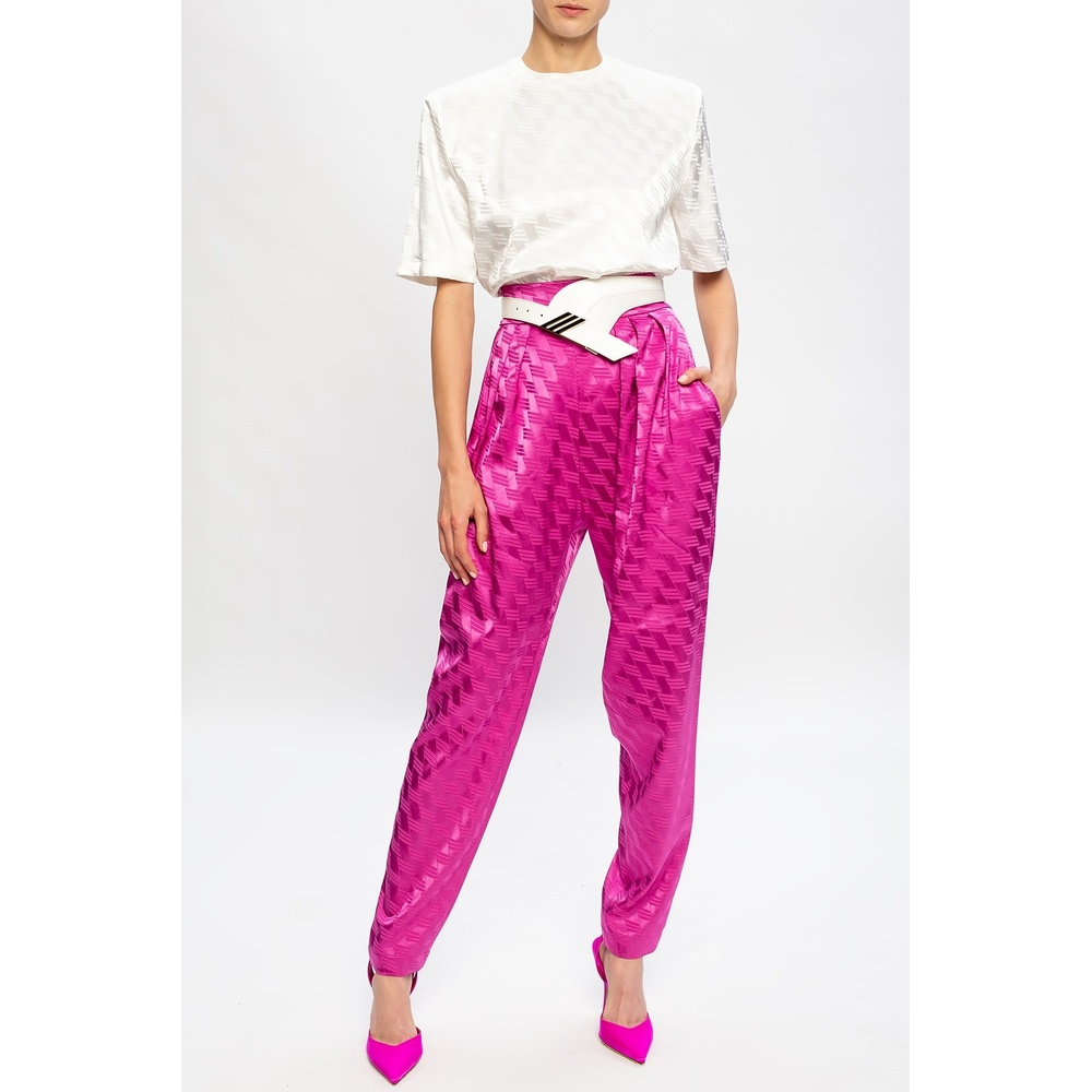 The Attico Pink Patterned trousers The Attico