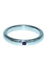 Elsa Peretti Sterling Silver Ring with Ruby