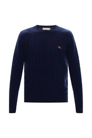 Knitted logo sweater