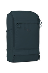 Petrol blue recycled plastic backpack