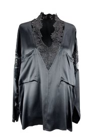 Silk Blouse with Lace Size 44 IT