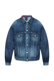 Branded denim jakke