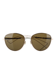 pre-owned Aviator Tinted Sunglasses Metal Brass