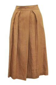 Beige Rosewood Pleated Skirt