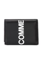 Portafogli Wallet Huge Logo in pelle nera