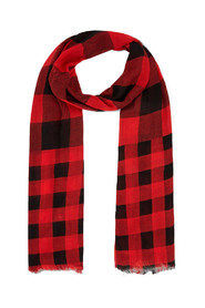 W'S CHECK LIGHT SCARF WWACC1443