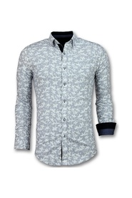 Men's Italian Blouse - Shirt with floral pattern