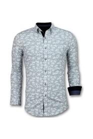 Italiaanse Blouse Heren - Overhemd met Bloemmotief