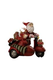 Santa on a scooter w / reindeer