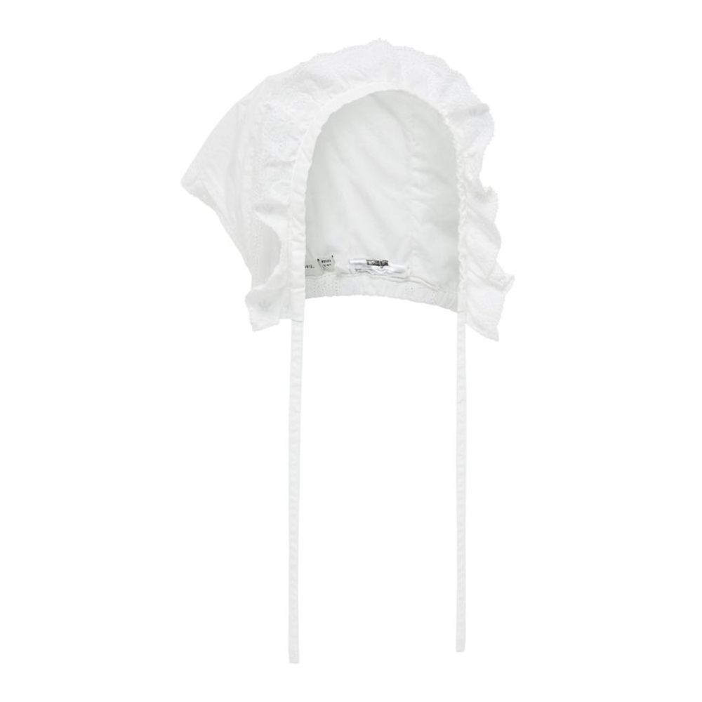Bright White Name It Mini Tenka Bonnet Accessories