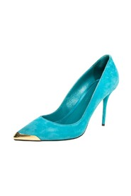 Sued Pointed Toe Pumps
