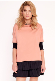 Oversize blouse with a wide Foxy stand-up collar