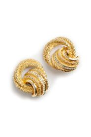 knot clip on earrings