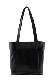 Pctania Leather Shopper bag