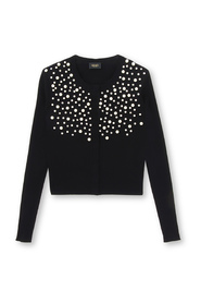 Cardigan with Pearls