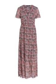 73002 crepe print jurk bloemen