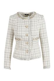 Tweed mini jacket with pearls