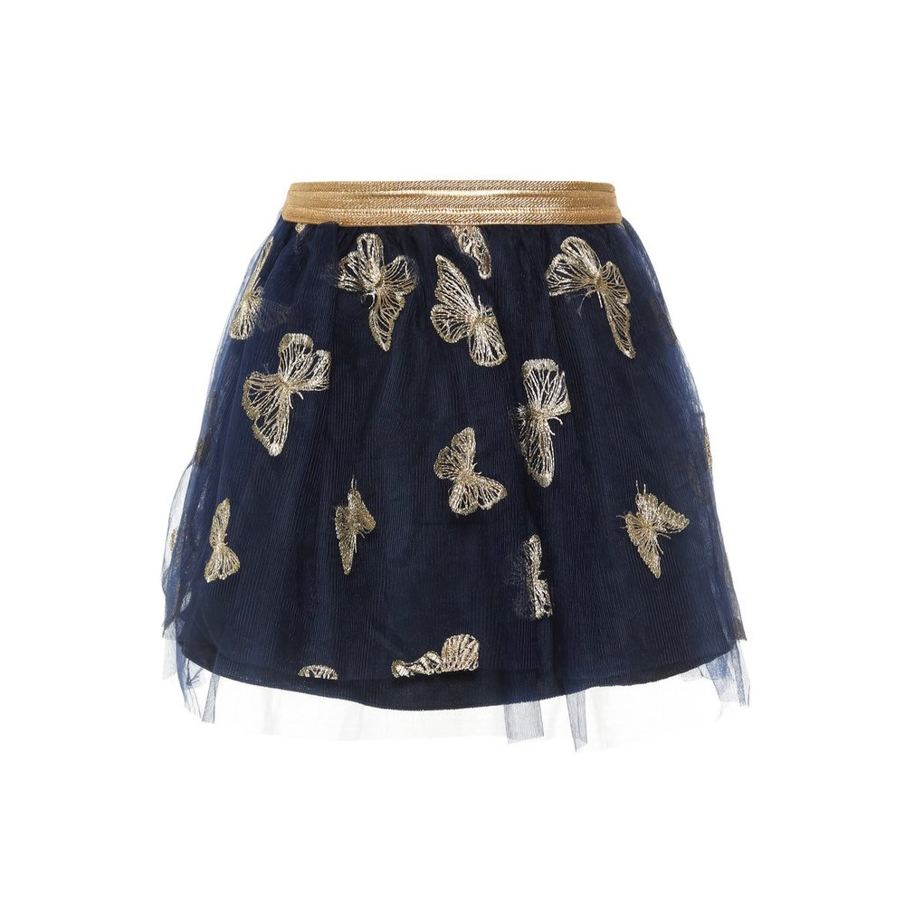Skirt butterfly embroidered tulle