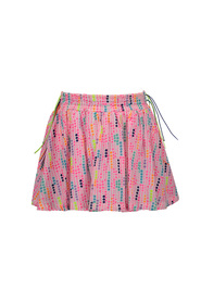 Kidz-art K801-5720-945 Woven skirt with smocked waist allover dots
